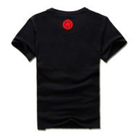 diseño del bordado del cuello de los hombres al por mayor-O-cuello nuevo diseño algodón bordado dragón camiseta hombre moda verano hombres ropa de alta calidad tamaño EE. UU. XS-XL