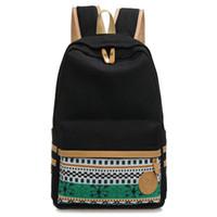 941423ed970d Wholesale- Vintage Laptop Backpacks Korean Canvas Printing Backpack Women  School Bags for Teenage Girls Cute Bookbags Female DF466