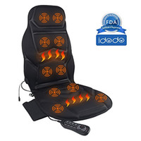Wholesale Seat Heat Pad - 8 Motor Vibrating Car Shiatsu Seat Cushion Cover Pad Massager with Heat Massage, Relax, Sooth and Relieve Back, Shoulder and Thigh Pain