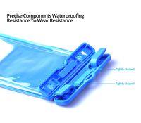 bolsa à prova d'água subaquática venda por atacado-Caso À Prova D 'Água luminosa para Telefone IPX8 À Prova D' Água Saco de Natação Subaquática com Arm Band Phone Caso para Férias À Beira-Mar