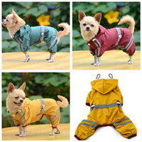 Wholesale reflective winter jackets - Dog Pet Apparel Clothes Waterproof Lightweight Raincoat Rain Jacket Poncho with Strip Reflective Outdoor pet cloth Wholesale