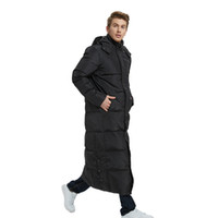 горячие снежные куртки оптовых-Мужские длинные пуховики зимние куртки с капюшоном белая утка вниз парки толстая теплая одежда снежные топы россия пальто Большой размер 5XL HOT