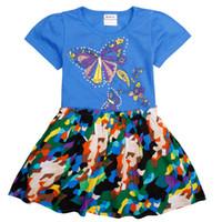 Wholesale Nova Kids Clothes - 2016 new nova kids baby girl dresses sleeve summer party butterfly pattern girl dress fashion children clothes girls dress