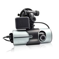 ingrosso registrazione della telecamera a ciclo-Dual Camera Car DVR R300 GPS e 3D G-Sensor 2.7