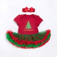 ensembles de vêtements pour bébés nouveau-nés achat en gros de-De Noël Bébé Barboteuses Robe De Noël De Bébé Fille Body 2pcs Ensembles 2018 New Born Bébé Vêtements Infantile Vêtements