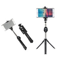 stativ für handy großhandel-Bluetooth Wireless Selfie Stick Fernauslöser Handheld Handy Selfie Stick Einbeinstativ Stativhalter für IOS Android Smartphones