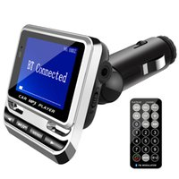 hands free bluetooth vehicle оптовых-2018 новейшая гарнитура самые продаваемые Bluetooth FM12B 1,4-дюймовый экран USB зарядка беспроводной FM громкой связи автомобиля MP3