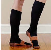 Wholesale Leg Slimming Socks - 3 color Compression Socks Breathable Long Soft stockings Anti Fatigue Magic Leg Slimming Sock Compression Socks KKA1025