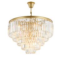 arañas de cristal modernas de calidad al por mayor-Modern Crystal Chandelier Lighting French Empire Golden Chandelier Chrome Chandeliers Iluminación Lustres Techo de alta calidad