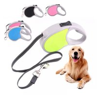 Wholesale led dog collar large online - 3M M Automatic Retractable Dog Nylon Leash Pink Blue Easy Gripping Pulling Dog Pet Cat Puppy Leading Leash colors AAA1085