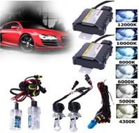 audi scheinwerfer geführt großhandel-HID-Xenon-LED-Scheinwerfer-Umbausatz H1 H3 H4 H7 9005 9006 880/881 Für Audi Beleuchtung dünner Drossel KIT-Birnen Set Werkzeuge HHA63