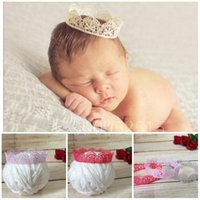 Baby Stirnband Krone Strass ROSA Kostüm Neugeborenen Foto Shooting Mädchen