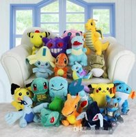 Wholesale Pokemon Dragonite Toy - Poke plush toys 20 styles Dragonite Pikachu Jigglypuff gengar Jirachi Charmander 13-20cm Soft Stuffed Dolls toy New years Gift