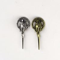 pino do trono venda por atacado-Filme Game of Thrones Canção de Gelo e Fogo Mão do Rei Lapela Inspirado Autêntica Prop Pin Badge Broches Jóias