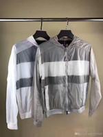 Wholesale full zip hoodie - M313 Men Spring Autumn Printing thin Windbreaker Full Zip hoodies for men Sweatshirt Jacket Sportswear Clothes tracksuit