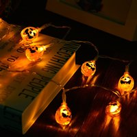 Wholesale holiday lighting resale online - Halloween Pary holiday Pumpkin shape Lights pumpkin Strip Battery Operated Starry lights For Christmas Wedding Party Decoration