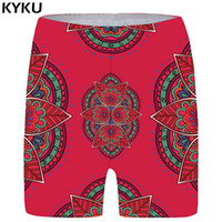 ingrosso pantaloni da fiori delle donne-KYKU Flower Shorts Women Graphic Sexy Casual Shorts Rosso 3d stampato Short Pants Colorful Ladies Womens Estate 2018 Nuovo