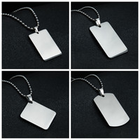 Wholesale mirror slides resale online - Blank Pendant Necklace Stainless Steel Dog Tag Heart Oval Shield Rectangle Shape Mirror Polish for Laser Engraving DIY Necklaces
