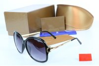 Wholesale black male models fashion - fashion classic sunglasses attitude sunglasses gold frame square metal frame vintage style outdoor design classical model with brand box