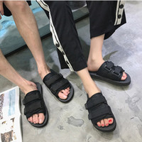 erkek boyutu 39 siyah ayakkabı toptan satış-Siyah Sıcak satmak yaz Erkekler flats sandalet terlik rahat ayakkabılar baskı karışık renkler flip flop boyutu 39-46
