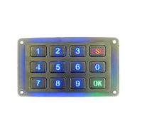 Wholesale Panel Stainless Steel - Stainless Steel USB backlighted numeric Keypad, Waterproof Rear Panel Mount metal backlit keyboard with 12Keys and bottom box