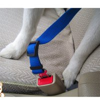 Wholesale leash accessories - Adjustable Dog Seat Belt For Dogs Stainless Steel Supply Leash Strong Nylon Traction Car Safety Dog Accessories Pet Produc Pet seat belt