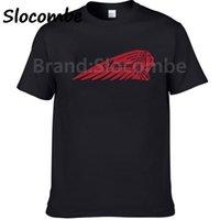 индийская принт хлопок t рубашка оптовых-2018 New Fashion  Motorcycles Logo Printed T Shirt 100% Cotton T-shirt
