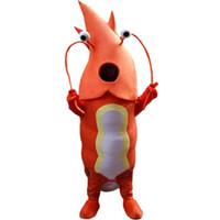 pelúcia livre venda por atacado-2018 Alta qualidade Mar Vermelho lagosta traje da mascote tamanho adulto de alta qualidade materiais EPE plush cloth clothing personalização frete grátis
