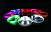 Wholesale led bracelet accessories - Music Activated Sound Control Led Flashing Bracelet Light Up Bangle Wristband Club Party Bar Cheer Luminous Hand Ring Glow Stick Night Light