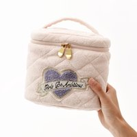 Wholesale White Canvas Bags - 2018 New Style Export ice cream Castle portable stereo embroidery lace decoration exquisite makeup bag barrel bag RP1801