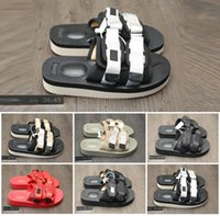 Wholesale Cheap Sandals For Summer - 2018 CLOT x Suicoke Sandals Fashion Slippers For Men Women Black Red Pink Lovers Visvim Summer Beach Outdoor Slippers Cheap Sale