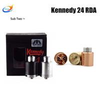 tank kennedy rda großhandel-Kennedy 24 RDA 24mm Durchmesser wiederaufbaubarer tropfender Zerstäuber Vaporizer fit 510 box Mod tank vapor Elektronische Zigarette RDTA