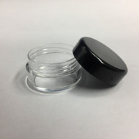 Wholesale screw lid plastic containers resale online - 5G ML High Quality Empty Clear Container Jar Pot With Black Lids for Powder Makeup Cream Lotion Lip Balm Gloss Cosmetic Samples