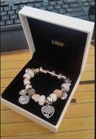Wholesale diy fashion bead bracelets - Fashion Charm Bracelet 925 Silver Pandora Bracelets For Women Life Tree Pendant Bangle Charm Pandora Love Bead as Gift Diy Jewelry with logo