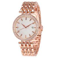 yeni saatler lüks izlemek toptan satış-Yeni Lüks Kadınlar İzle Elmas Paslanmaz Çelik Moda Marka Lady Saatler Kuvars Rhinestone Saatı Saat Hediyeler Relogio Feminino Saat