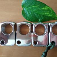 ingrosso polveri spesse-Anello per spolveratore a mano in acciaio inox EDC a un dito / spessore carta Peso a specchio in acciaio lavorato a CNC per lucidatura spessore 15,8 mm 24 mm