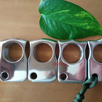 Wholesale Stainless Steel Weights - Stainless Steel EDC Single Finger Knuckle Duster Ring   Paper Weight CNC Machined Mirror Polished Thick 15.8mm Finger Diameter 24mm