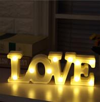 sinais conduzidos venda por atacado-Decorativa LED Letreiro Letreiro Iluminado Amor 18.3