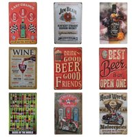 Wholesale Pin Sign - Drinking Beer Vintage Pin Poster European Style Unique Tins Sign For Bar KTV Hang Create Atmosphere Iron Painting Hot Sale 20*30cm Z