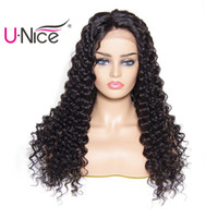 Wholesale Unice Hair Bettyou Series Brazilian Deep Wave Pre Plucked Lace Front Human Hair Wigs For Women Peruvian Lace Front Wigs Bulk