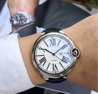 armbanduhrriemen zum verkauf großhandel-2019 heißer verkauf lederarmband uhr männer automatische maschinen edelstahl uhr sport armbanduhr