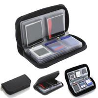 hafıza kartı saklama kutuları toptan satış-HENGHOME 1 adet Bellek Kartı Vakaları SDHC MMC CF için Mikro SD Kart TF Kartları Bellek Sopa Saklama Çantası Taşıma Kılıfı Koruyucu