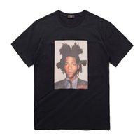 Wholesale black art tee shirts - Bigger Than Your Art Basquiat Printed Men's T-shirt Short Sleeve 2018 Summer Casual T Shirt Tee Shirts Men