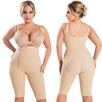 Wholesale Full Body Seamless Shapewear - Fajas Colombianas Women's Seamless Thigh Slimmer Open Bust Shapewear Firm Control Bodysuit Full Body Shaper Plus Size