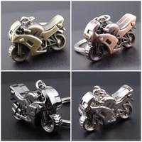 Wholesale motorbike cross - Classic Motorcycle Keychain 3D Simulation Model Motorbike Autocycle Key Chain Ring Keyring Keyfob Gift Free DHL D521L