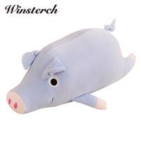 свиные подушки оптовых-Plush Stuffed Pig Toys Gifts Cushion Pillow Soft Stuffed Animal Dolls Baby Kids Toys Christmas Birthday Gifts Brinquedos WW394