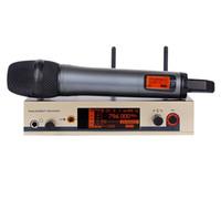 el profesyonel kablosuz mikrofon sistemi toptan satış-Profesyonel kablosuz mikrofon EW UHF Akülü Mikrofon Sistemi El Kablosuz Mic skm marka