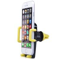 apfel iphone handy halterungen halter großhandel-Universal Smartphone Auto Air Vent Telefon Halter für Navigationsinstrument, Auto Halterung für Handy