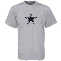 benutzerdefiniertes bedrucktes hemd logo großhandel-Cowboys de Dallas Logo Premier T-Shirt Grau XXL 2018 Hohe Qualität benutzerdefinierte gedruckt Tshirt Hip Hop lustige T-Shirt Männer T-Shirts