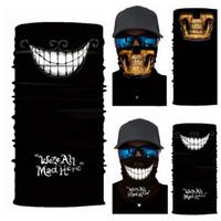 çok fonksiyonlu halka toptan satış-Dikişsiz İşlevli Sihirli Tüp Kafatası Hayalet Yüz Maskesi Bandı Baskı Şapkalar Halka Hızlı Kuruyan Kafa Eşarp GGA337 60 ADET